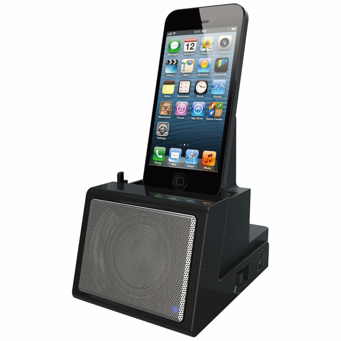 CR12 - Portable Universal Cradle with Speaker System (Bluetooth), Rechargeable Battery