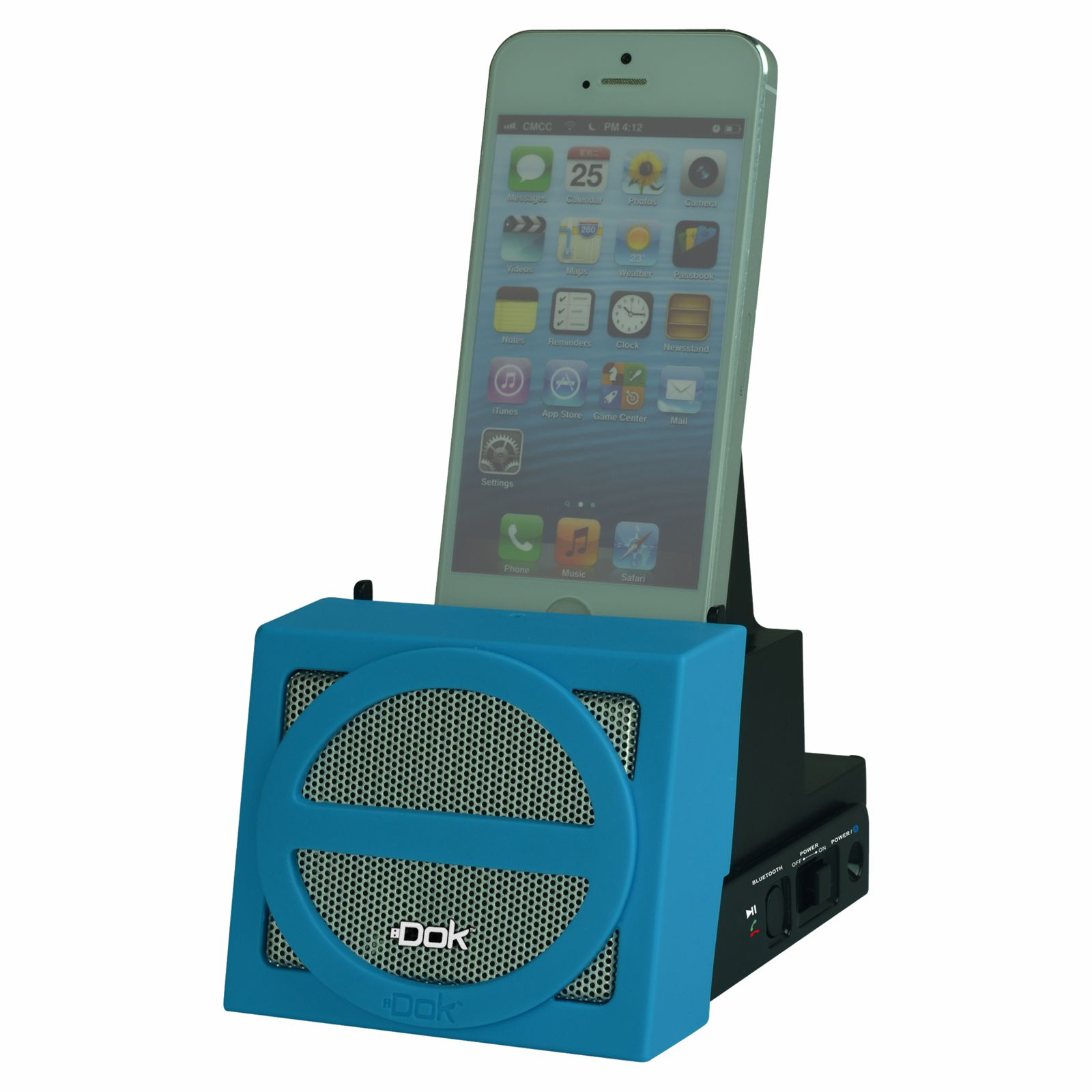 CR12BL - Portable Universal Cradle with Speaker System (Bluetooth), Rechargeable Battery (Blue Face)