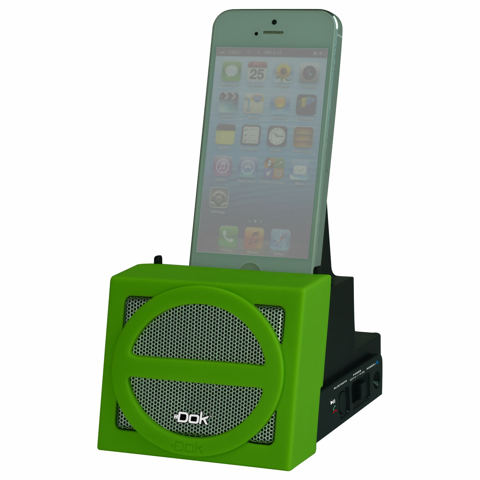 CR12GN - Portable Universal Cradle with Speaker System (Bluetooth), Rechargeable Battery (Green Face)