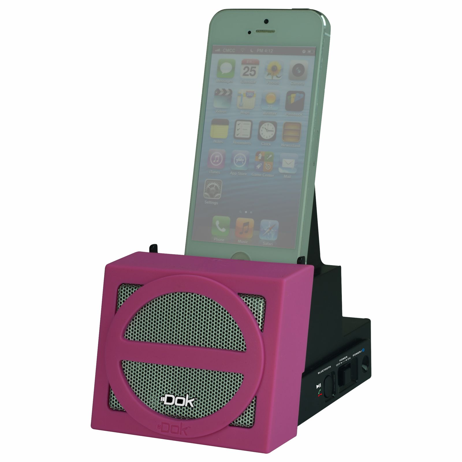 CR12PK - Portable Universal Cradle with Speaker System (Bluetooth), Rechargeable Battery (Pink Face)