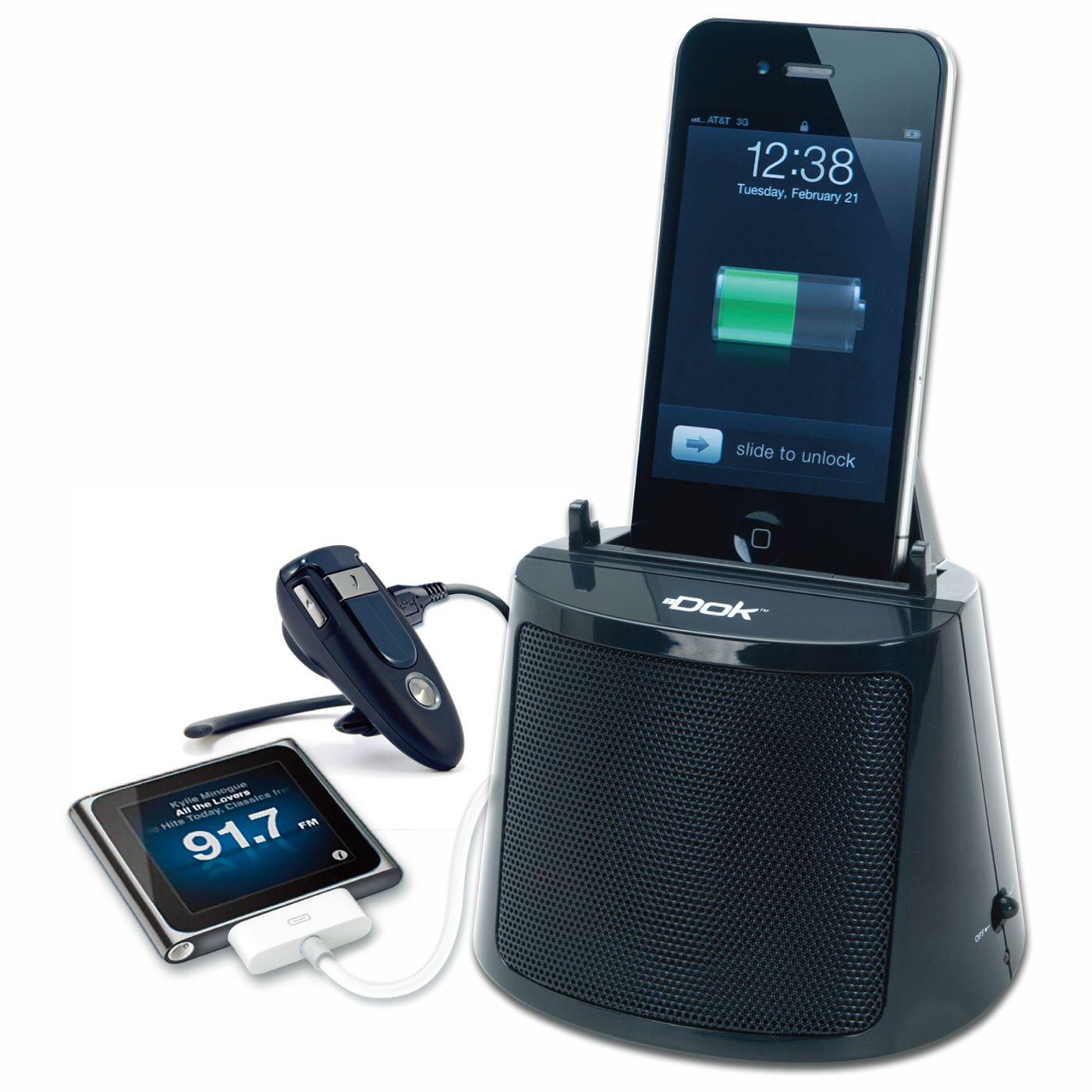 CR16 - 3 Port Charger with Bluetooth Speaker