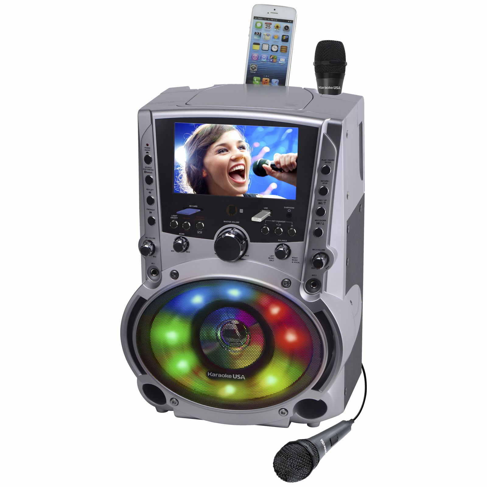 GF758 - DVD/CDG/MP3G Karaoke Machine with 7