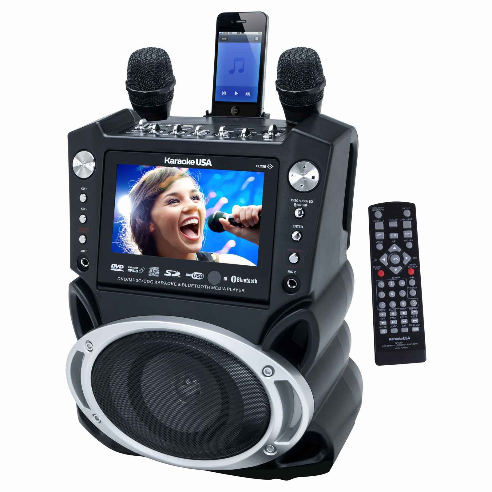 GF830 - DVD/CDG/MP3G Karaoke System with 7