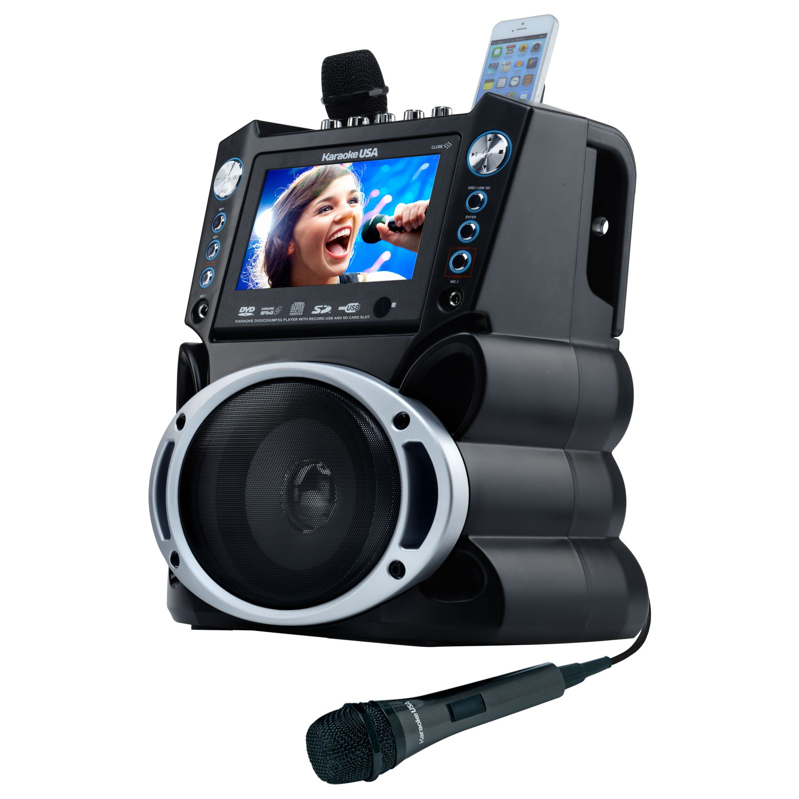 GF839 - DVD/CDG/MP3G Karaoke Machine with 7