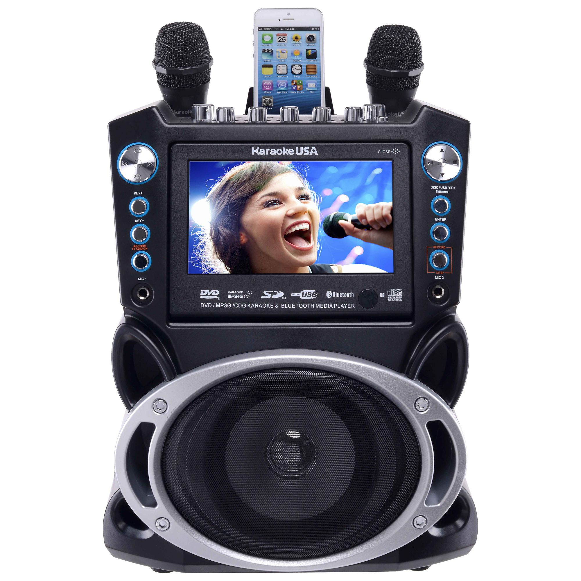 GF840 - DVD/CDG/MP3G Karaoke Machine with 7