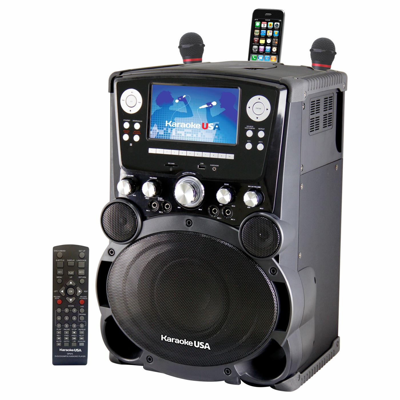 GP975 - Professional DVD/CDG/MP3G Karaoke Player with 7