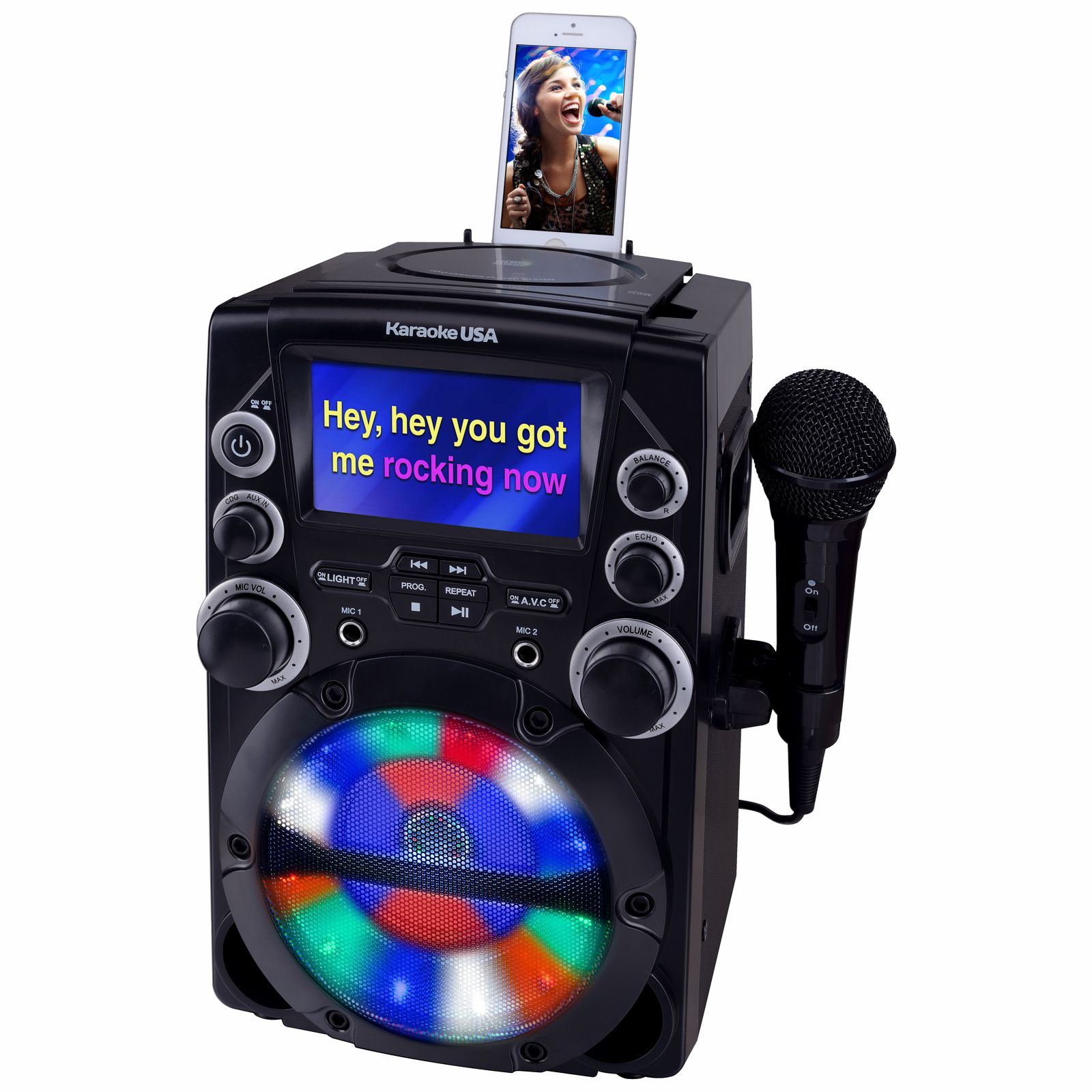 GQ740 - CD+G Karaoke System with 4.3