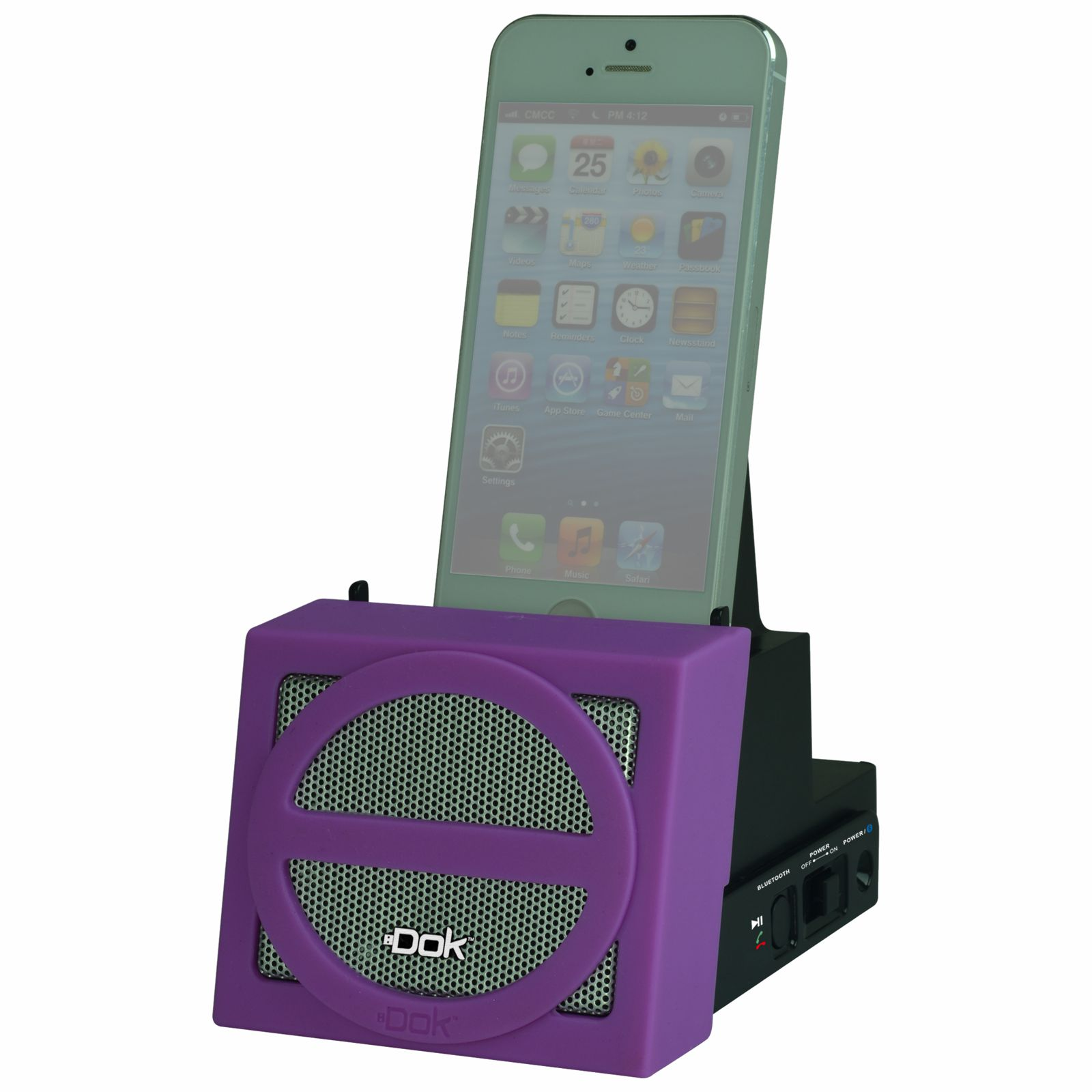 CR12PU - Portable Universal Cradle with Speaker System (Bluetooth), Rechargeable Battery (Purple Face)